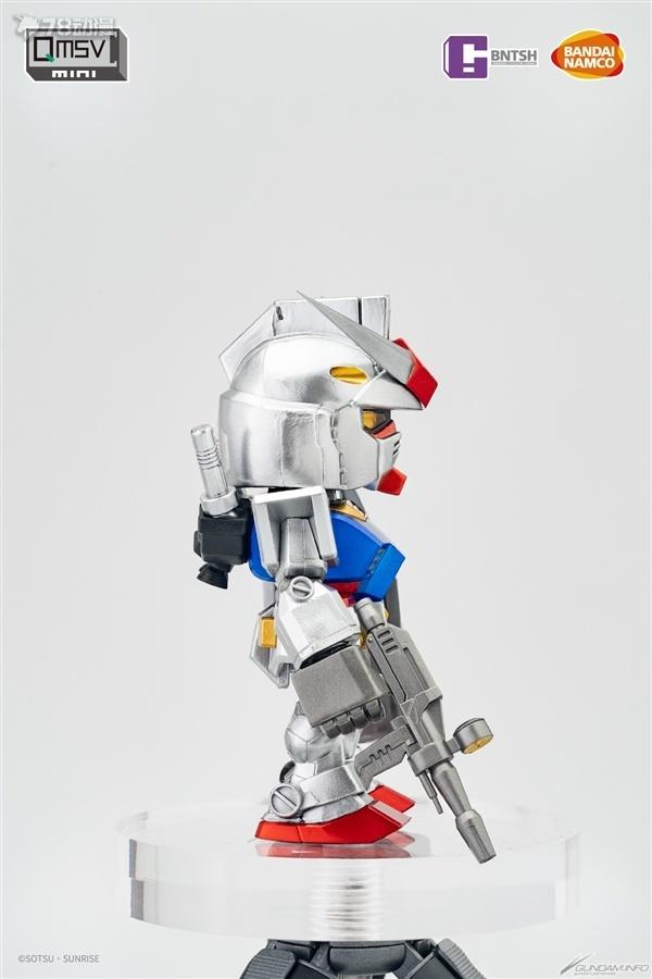 BANDAI  南夢宮玩具 搪膠 QMSV mini RX- RX-高達 金屬質感 VER